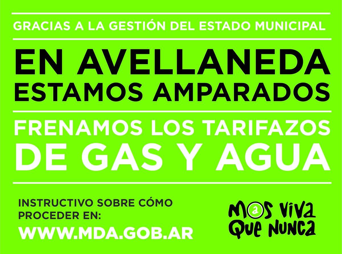 Tarifazo: qué hacer a partir del amparo que logró Avellaneda en favor de los vecinos https://t.co/ftCrTL5NcI
