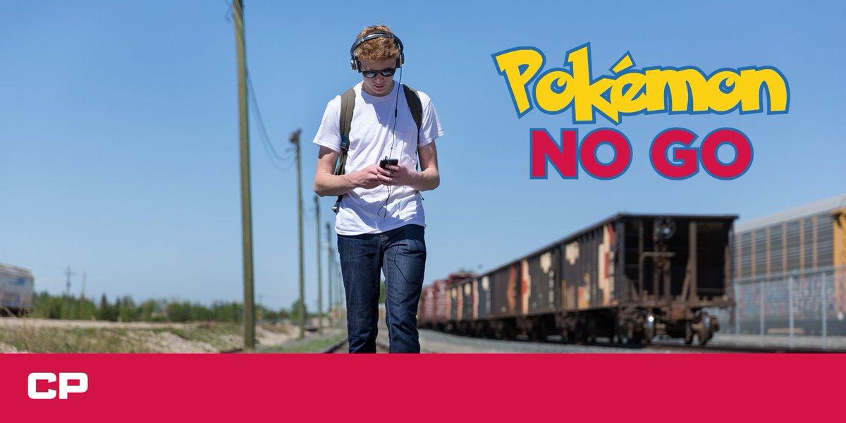 Train tracks and railway property are a #PokemonNOGO zone! #SeeTracksThinkTrain #PokemonGo https://t.co/cpB20UDOXQ