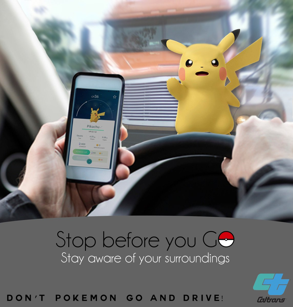 Dont Pokemon Go and Drive, Keep your eyes one the road!! #PokemonGO #PokemonGoChallenge https://t.co/pau89huoy1