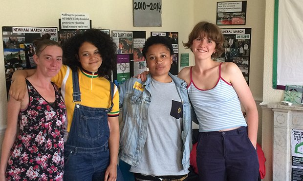 Sisters Uncut seize Homerton flat to protest lack of housing for domestic violence victims https://t.co/ONjGLwSjJ7 https://t.co/HhJf4XyJ3d