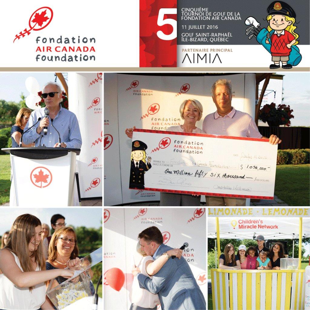 +1M$ amassés par la FondationAirCanada pour aider les enfants malades. Gros merci!