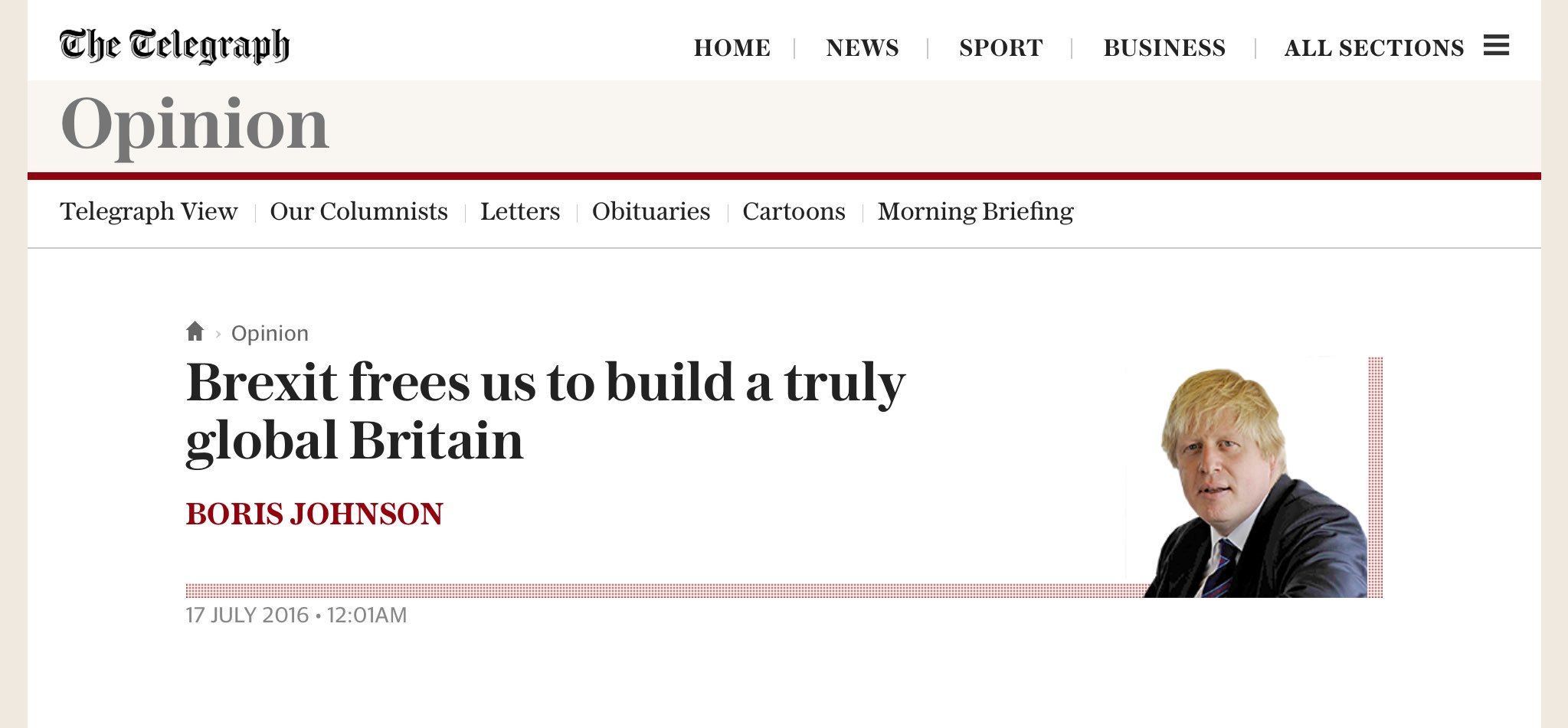 In what parallel dystopian universe is it OK for BoJo to still do a regular column now he's Foreign Secretary? https://t.co/YuJsANqzOC
