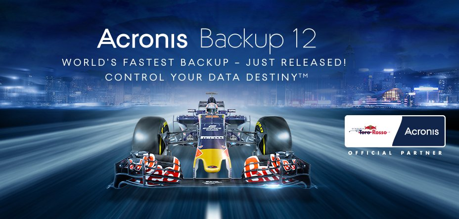 For the launch of #AcronisBackup12 @Acronis partners with @ToroRossoSpy at the #HungarianGP https://t.co/ONA8T3l9tI https://t.co/icJqQclTNq
