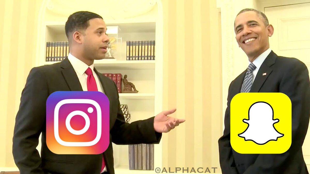 LOL @instagram vs @Snapchat