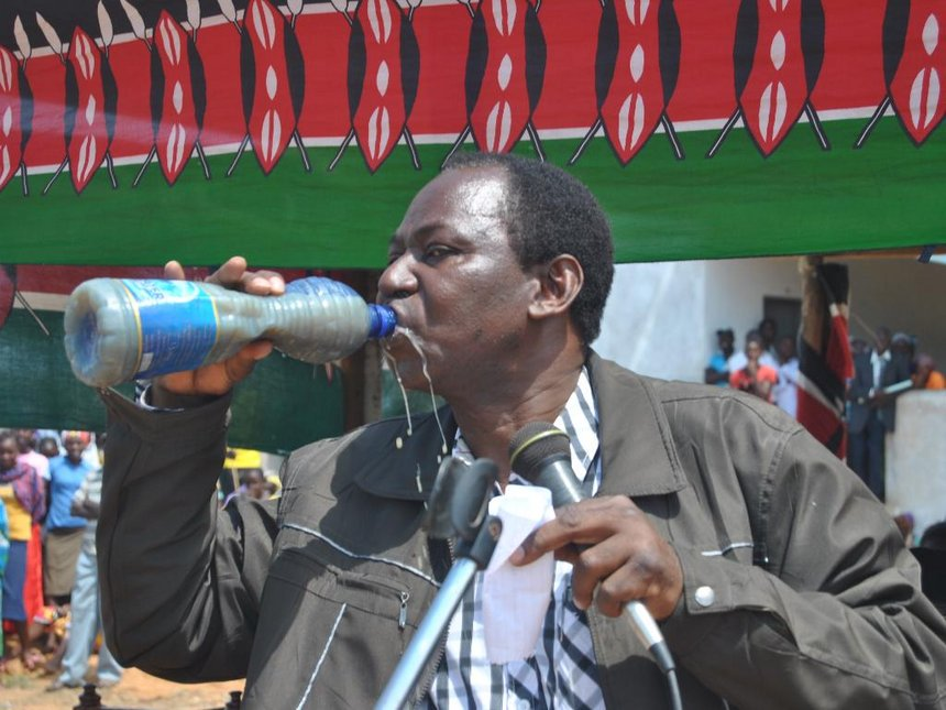 MP, MCA drink dirty water to show support for drought-stricken residents