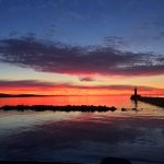 Dawn over #LakeSuperior this morning as seen from #Duluth #Minnesota https://t.co/qYCHY7gUHf
