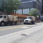 The City of Philadelphia is efficient. As soon as the protesters pass, theres a row of street sweepers. https://t.co/PvlM3DoarO