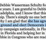 And HIllary Clinton gives DWS an honorary title on her campaign. Full statement: https://t.co/jTBsgWLyoq