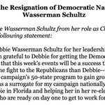"MORE: @HillaryClinton says Wasserman Schultz ""has agreed to serve honorary chair of my campaigns 50-state program"" https://t.co/StlLbiSa6y"