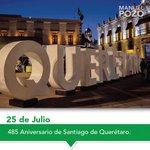 Un día como hoy pero de 1531, se fundó la ciudad de Santiago de Querétaro. ¡Feliz Aniversario! 🌞 https://t.co/uOqwXTIMos
