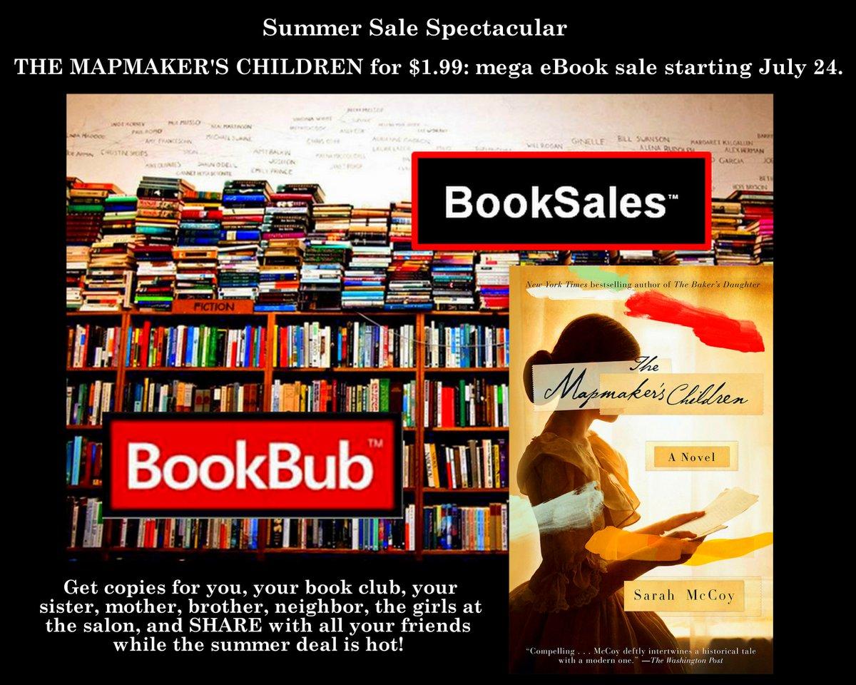 ☆Summer Mega Sale! #TheMapmakersChildren eBook is $1.99. Hot #deal! Get copies now: https://t.co/pkaapPPMVi https://t.co/pEXlrLVGBJ