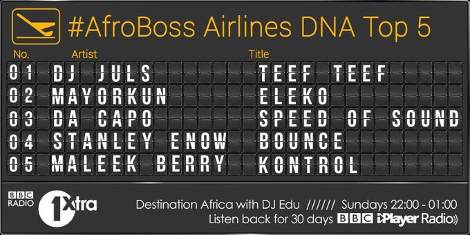 The #Afrobeats you need in your playlist #Afroboss #DNATop5