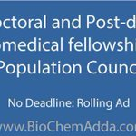 Population Council offers Pre-doctoral and Post-doctoral #Biomedical #fellowships https://t.co/37wFjHItN6 https://t.co/xMkNKiGLpH