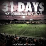 We are kicking off our countdown today!! Make sure to follow along all month long! #Hokies #SoccerIsComing 📅 ⚽️ https://t.co/NG8CVnUrOs