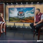 Cecilia and I running the show at @CFBLive #HardSmartTough 🦃 https://t.co/HGAuSEfHmP