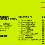 TEAM NEWS: heres the #htafc line-up for todays 5pm UK time KO against @werderbremen_en in Austria (DTS) https://t.co/TLdD82e4Si