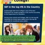 Did you know that were one of the top #colleges in the UK for progress? Top 4% for #Vocational & top 6% for #ALevel https://t.co/dqeZBBgn6n