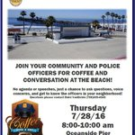 #Oceanside Coffee with a Cop- casual, informal way for citizens to establish a relationship with our law enforcement https://t.co/fYCORQGpv3