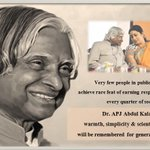 My tributes to one of the most inspiring personalities of our nation, Dr. APJ Abdul Kalam on his death anniversary. https://t.co/wEUezqVXkL