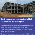 Centre approves construction of 2.4 lakh houses for urban poor https://t.co/mEt7BXfllO via NMApp https://t.co/RJelCvRGET