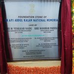 Laid foundation stone for Dr. APJ Abdul Kalam National Memorial at Rameswaram today. https://t.co/o5TaOeqd5d