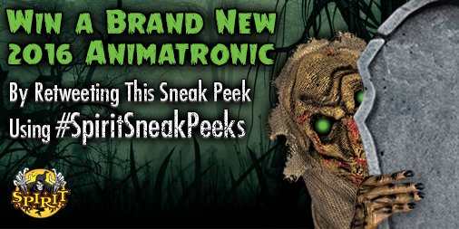 Stand tall this Halloween with the Towering Ghost!  RT w/ #SpiritSneakPeeks for a chance to win! https://t.co/zQWHV3pbXj