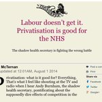 Owen Smith lobbied the government to privatise NHS. His adviser John McTernan also believes in privatising NHS! https://t.co/R4JTPkYbns