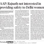 AAP: Rajnath Singh not interested in providing safety to Delhi women https://t.co/ObUX3EcsRk