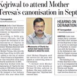 AAPInNews: Kejriwal to attend Mother Teresa's canonisation in Sept https://t.co/Ur7XpDLrF8