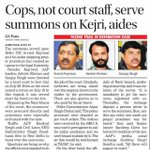 RT AAPInNewsPB: Cops, not court staff, serve summons on Kejriwal, aides https://t.co/XePo5uqaDn