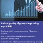 Indias quality of growth improving, says CRISIL #TransformingIndia https://t.co/fW3LpMEaon via NMApp https://t.co/C1KaLAqZSc