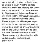 Mayowas current update #Officialstatement - signed Ahmed Family #SaveMayowa #PrayForMayowa #standwithmayowa https://t.co/rhKx8xuAFL