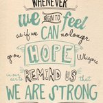 We believe in #Hope #Recovery & #Resilience for all!  RT if you agree 🌈 https://t.co/Sd2TXQvDC5