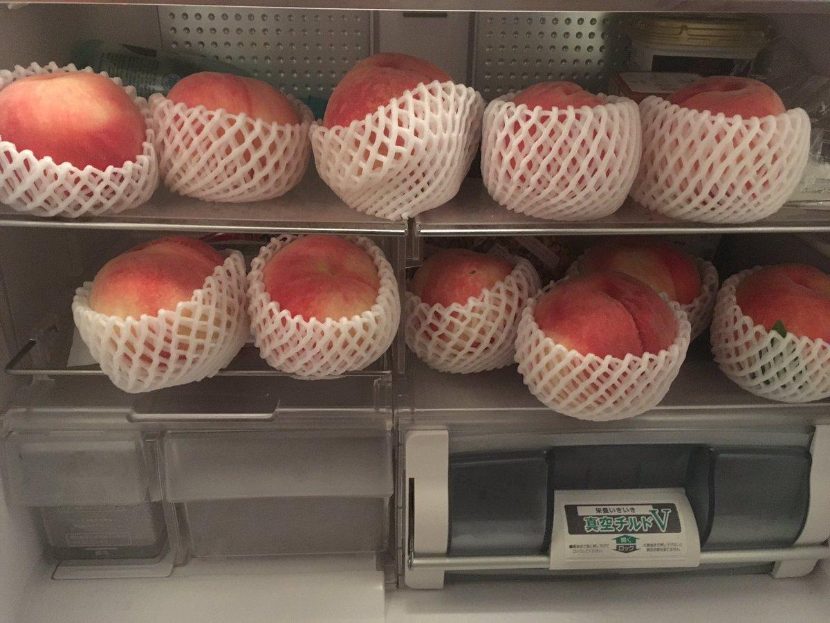 ウチの冷蔵庫が桃神祭。。