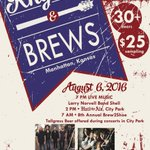Bands.Brews.BBQ.OBoy! Aug 6 #RhythmandBrewsFestival @grizfolk @iloveshelmusic #CityPark #ManhattanKS #WakingUpGiants https://t.co/L9FONE3J2X
