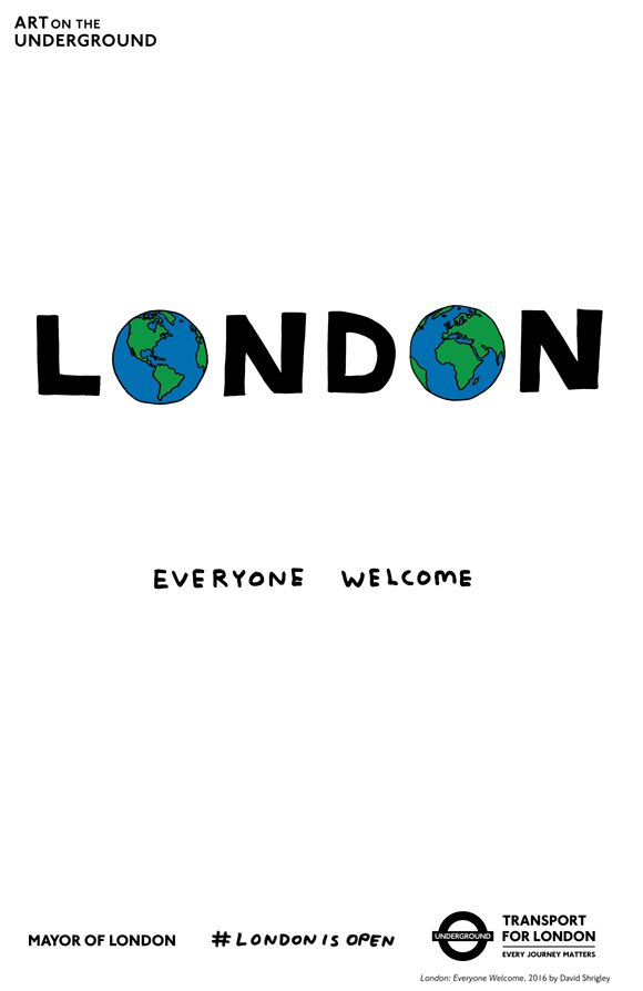 I'm very happy that @MayorofLondon has chosen my poster to help the #LondonIsOpen campaign https://t.co/xc6KjJIse5