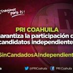 #PRICoahuila garantiza la participación de candidatos independientes  #SinCandadosAIndependientes https://t.co/od7K38K6Zl