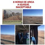 """6 horas de Arica a Iquique por """"trabajos en la ruta"""" ojalá el ministro del @mop_chile tuviera su oficina en el Norte https://t.co/ikxGktqIb3"""