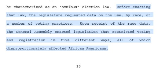A particularly chilling part of that 4th Circuit opinion.   Tho it's still about voter fraud, right? https://t.co/9hXQm0YhGc