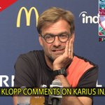 Videos and reaction still to come from the Klopp press conference. First video right here: https://t.co/aNmse16b67 https://t.co/IhKxBTwPhi
