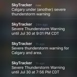 Glad the @GlobalCalgary Skytracker is gaining a sense of humour - Another #abstorm 🙄 https://t.co/ROfhL6ufBJ