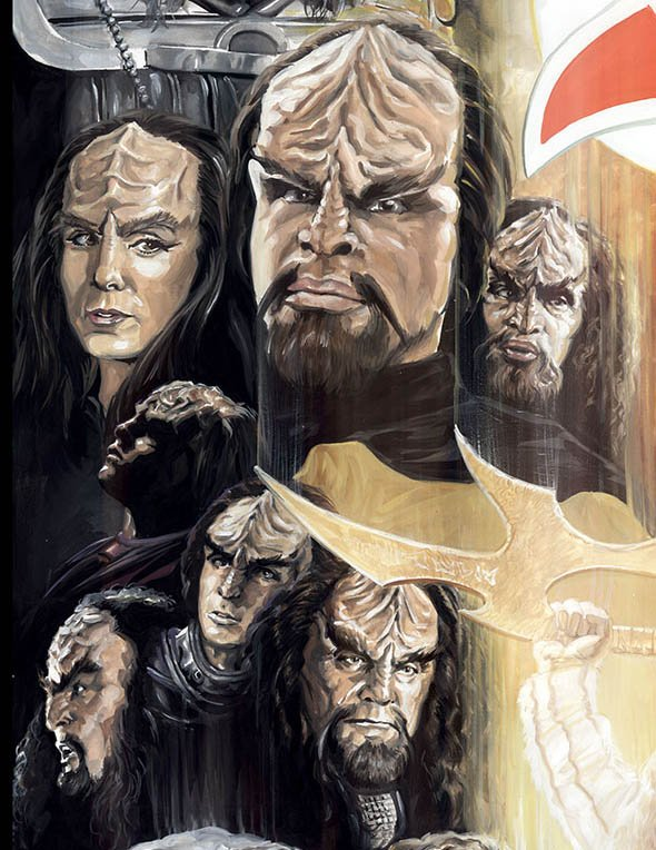 The sons of M'ogh' featured in the StarTrek:50 Artists.50 Years exhibit https://t.co/rTtv8zBvXr @TonyTodd54 @akaWorf https://t.co/HAWKyPFc9A