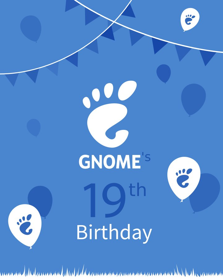 19 years ago and going strong — happy birthday GNOME! #HappyBirthdayGNOME https://t.co/KozmQQ0rnX