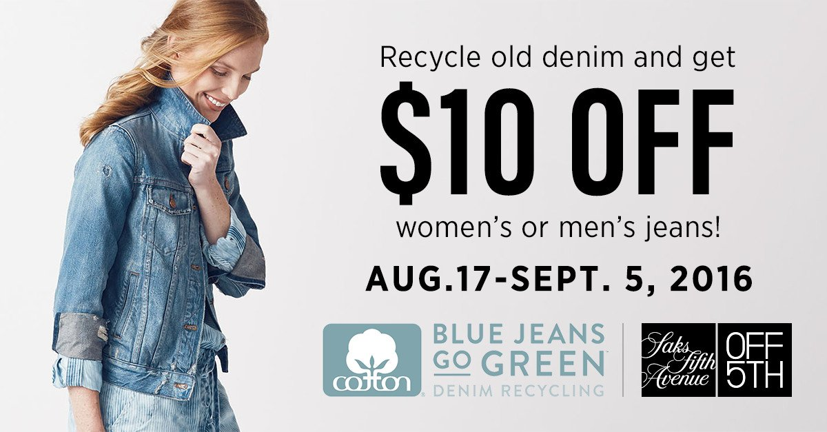 We've partnered with Blue Jeans Go Green™ to recycle unwanted denim. Bring yours to a store near you! #IGaveWithO5 https://t.co/1zF5BKjfn0
