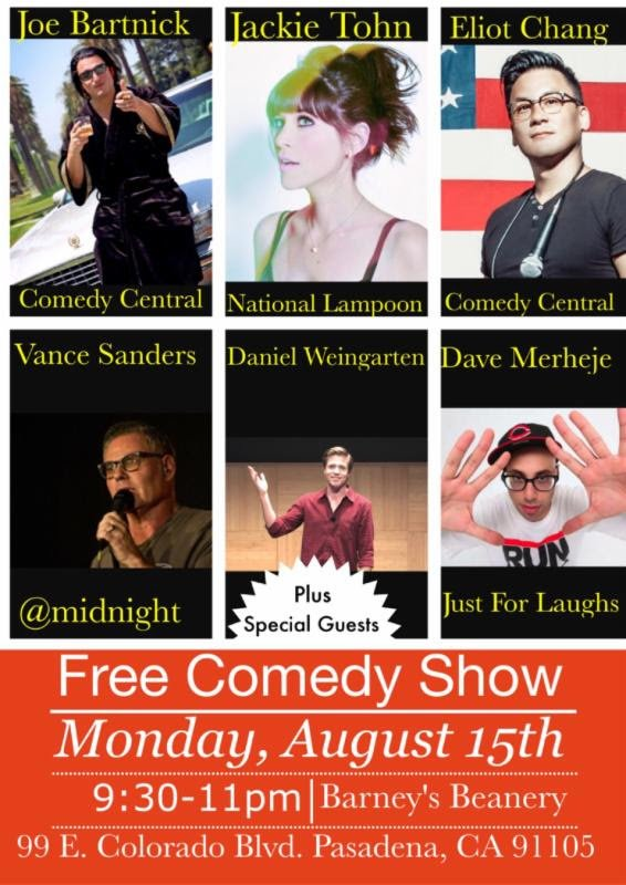LAUGH @joebartnick @JackieTohn @EliotChang @vancesanders @dwcomedy @DaveMerheje  & @Melissa_McQueen 2nite @ 9;30pm https://t.co/v6QZuFmwqi
