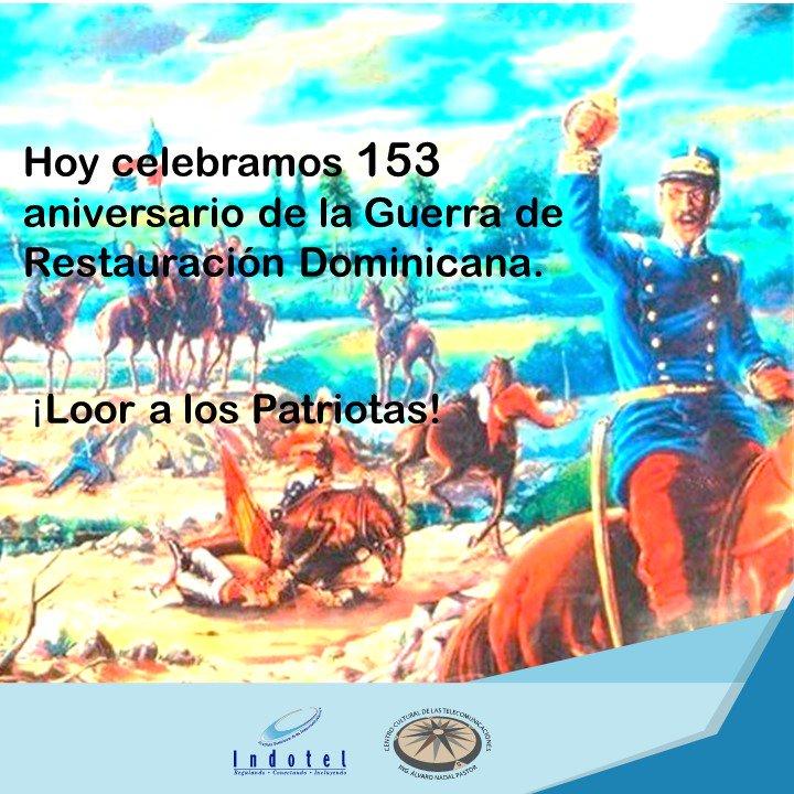 El 16 agosto de 1863 un grupo de patriotas dieron el inicio a la guerra de restauraciónde la soberanía dominicana. https://t.co/GszhjzGOqS