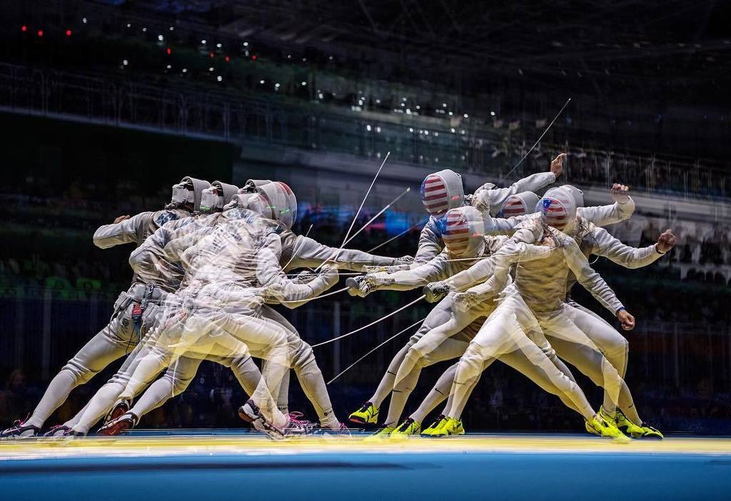 Was @olympics fencing yesterday & tried some in camera multiples. 5 exposure multiple. Han… https://t.co/zaS190dDcf https://t.co/xuEiAYR6ee