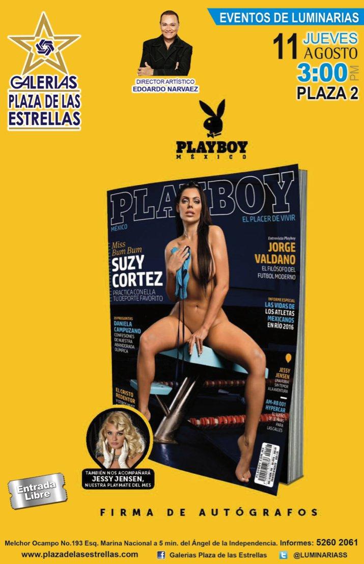 RT @luminariass: ¡Caballeros!Próximo Jueves 11 de Agosto de la revista PLAYBOY la sensual Modelo Brasileña SUZY CORTEZ 3:00pm PLAZA 2 https…