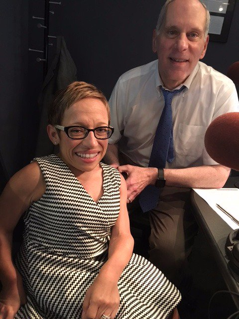 @JenArnoldMD joins us in studio to talk #VacciNation and why childhood immunizations are so important. 877-698-3627 https://t.co/iA7HOUeVUz