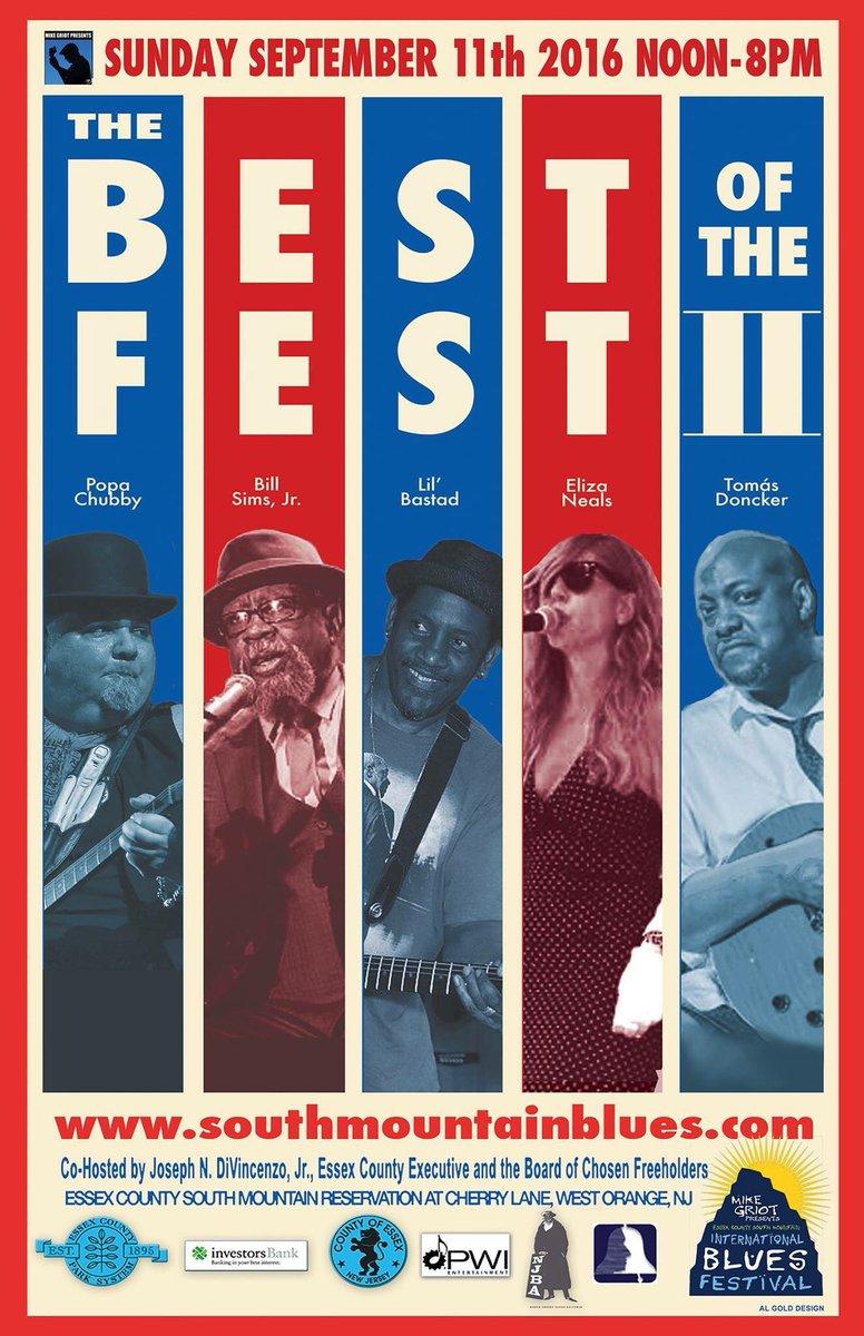 Sept 11th 2016 @SOIBF #SMBlues2016 #Legendary #BluesMusicians 12Noon-8pm #Blues #MusicFestival #NorthernNJ #911 https://t.co/X2eKqYJOxW